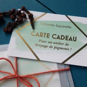 """Carte cadeau """"Atelier de broyage de pigments"""" sur Nantes"""
