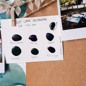 "Dot card – Set ""Du cyan au noir"""