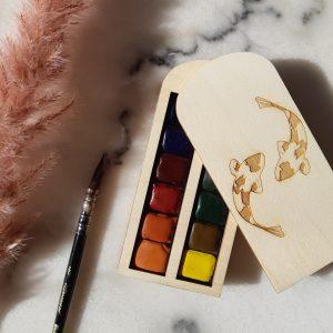 Palette aquarelle Carpes Koi