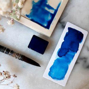 Demi-godet – Bleu Yin