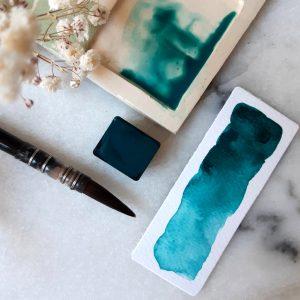 Demi-godet – Turquoise